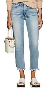 3x1 Women's W3 Higher Ground Distressed Crop Jeans - Lt. Blue