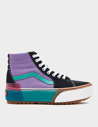 Vans Sk8-Hi Stacked Sneaker in Confetti/Fairy Wren/Sea Green