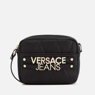 Versace Women's Quilted Logo Small Cross Body Bag