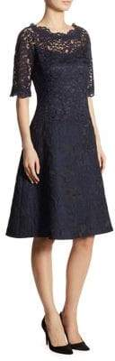 Teri Jon by Rickie Freeman Lace A-Line Dress