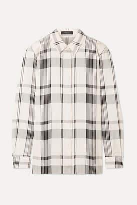 Theory Checked Jacquard Shirt - Ivory