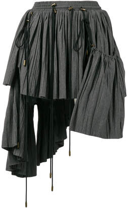 Y/Project Y / Project asymmetric pleated mini skirt