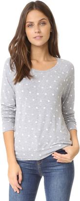 Splendid Corrine Polka Dot Sweatshirt $128 thestylecure.com