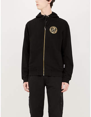 Versace Logo-print cotton-jersey hoody