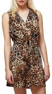 Miss Selfridge Leopard Knot Front Dress