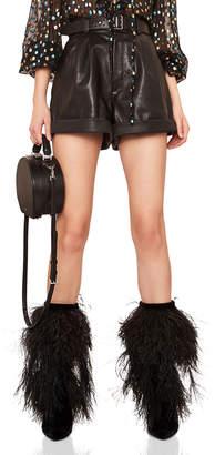 Saint Laurent Grained Leather Shorts