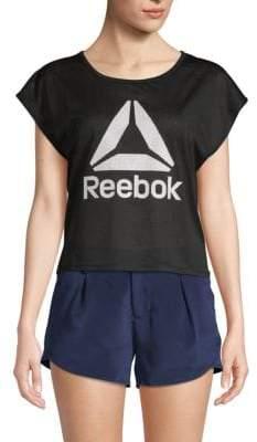 Reebok Cropped Logo Tee