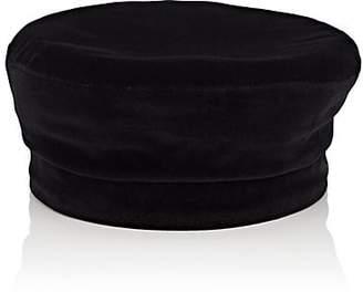 Janessa Leone Women's Ivette Cotton Velvet Beret - Black