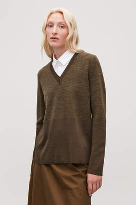 Cos POINTED-COLLAR MOCK SHIRT