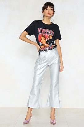 Nasty Gal Watch This Space Metallic Pants