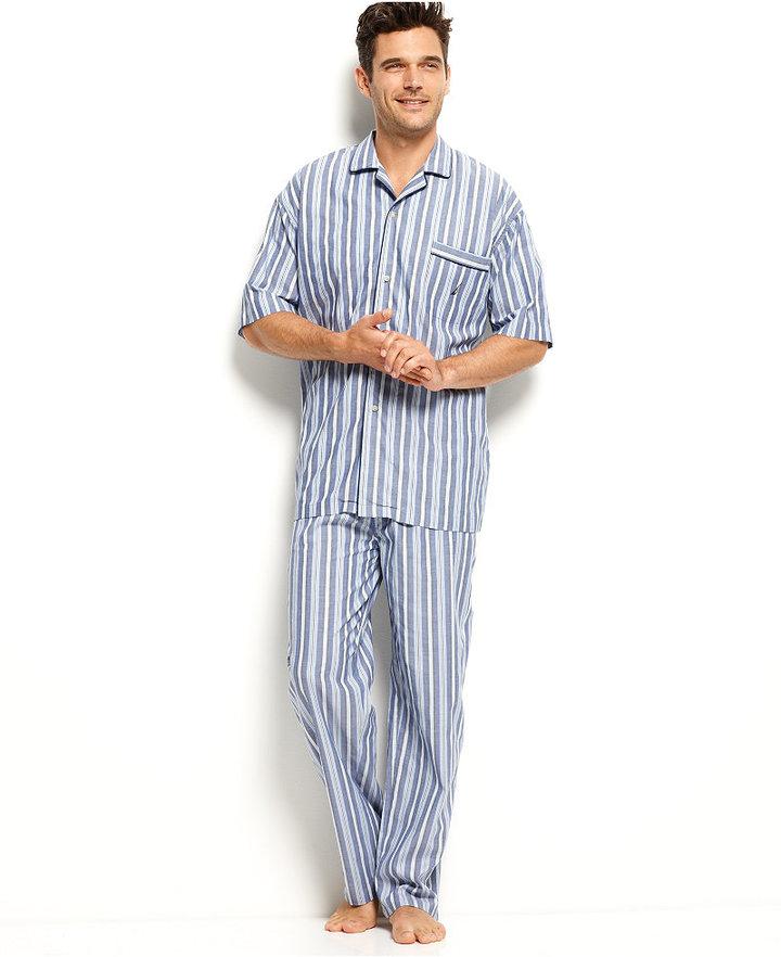 Nautica Men's Sleepwear, Anchor Pajama Shirt 3