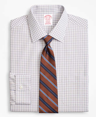 Brooks Brothers Madison Classic-Fit Dress Shirt, Non-Iron Framed Windowpane