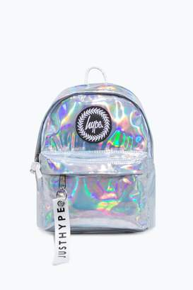 Hype Girls Irridecent Mini Backpack - Silver
