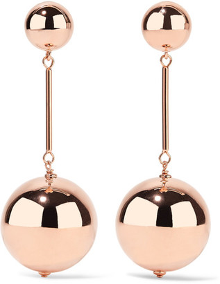 J.W.Anderson - Rose Gold-tone Earrings - one size $440 thestylecure.com