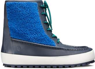 Tory Sport COLOR-BLOCK LACE-UP BOOTS