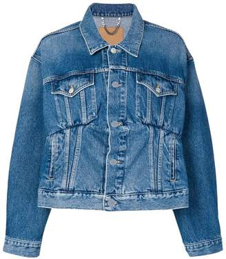 Balenciaga stitched denim jacket