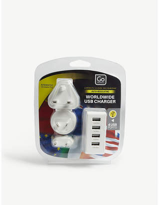 Go Travel Worldwide USB charger with four ports