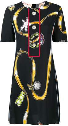 Marni printed buttoned T-shirt dress