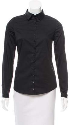 Anne Fontaine Tailored Long Sleeve Button-Up