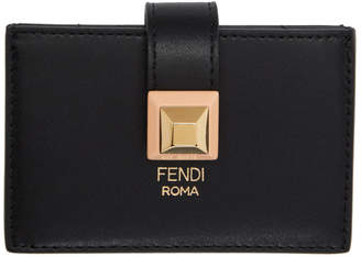 Fendi Black Kan I Multi Card Holder