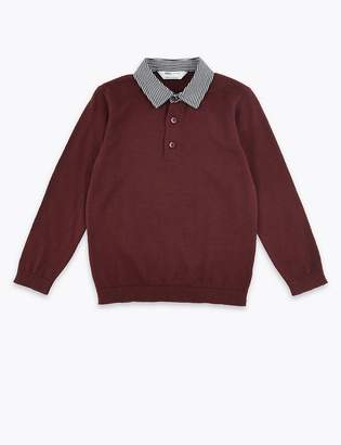 Marks and Spencer Knitted Polo Shirt (3 Months - 7 Years)