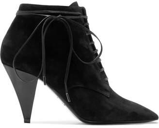 Saint Laurent Era Suede Ankle Boots - Black