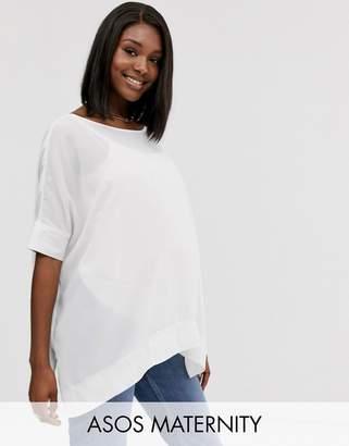 Asos (エイソス) - ASOS Maternity ASOS DESIGN Maternity oversized kimono t-shirt with v back