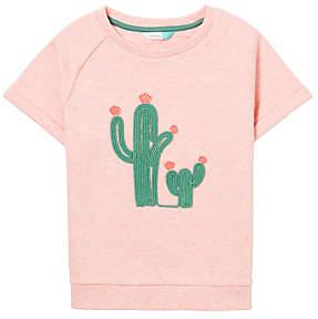 John Lewis Girls' Embroidered Cactus Sweatshirt, Pink