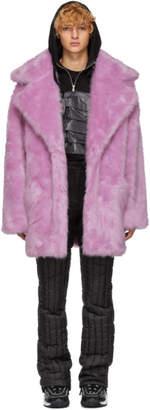 Landlord Purple Faux-Fur Capsule Coat