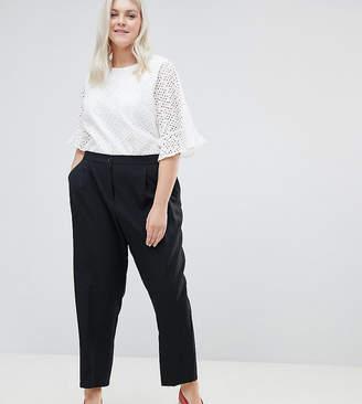 Asos DESIGN Curve elasticated clean tapered trouser