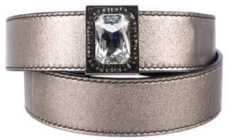 Valentino Leather Embellished Belt Silver Leather Embellished Belt