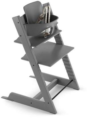 Stokke Tripp Trapp Adjustable Grow with Baby High Chair Support Set Storm Grey (Highchair Sold