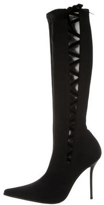 Casadei Knee-High Pointed-Toe Boots $100 thestylecure.com