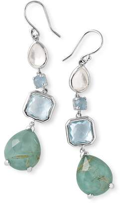 Ippolita Sterling SIlver Bezel & Prong Set Stone Linear Drop Earrings
