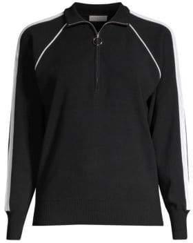 Sandro Agathe Quarter-Zip Sweater