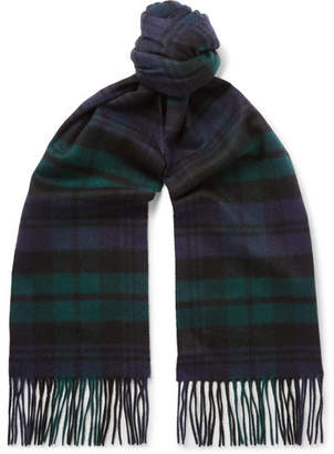 Johnstons of Elgin Fringed Tartan Cashmere Scarf