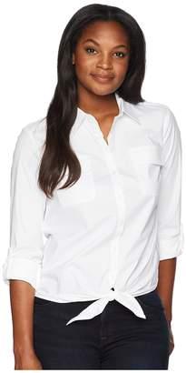 Jones New York City Poplin 3/4 Sleeve w/ Tie Front Women's Clothing