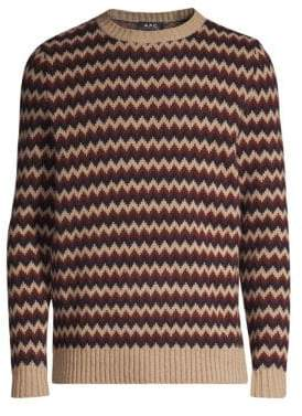 A.P.C. Chevron Stripe Wool Sweater
