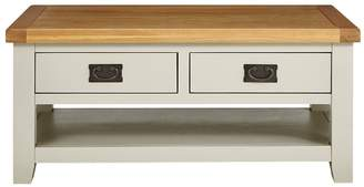 Luxe Collection - Oakland Painted 100% Solid Wood 2 Drawer Coffee Table