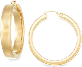 Signature Gold Round Hoop Earrings in 14k Gold over Resin