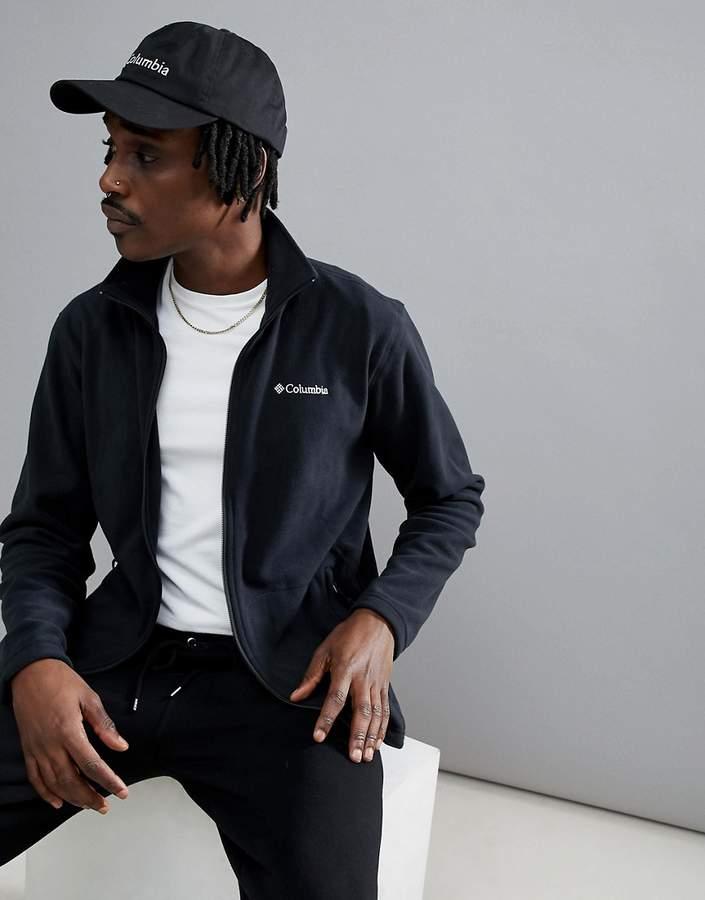 – Fast Trek – Leichte Fleece-Jacke in Schwarz mit Reißverschluss