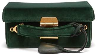Mark Cross Grace Small Velvet Cross Body Bag - Womens - Dark Green