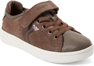 Geox Toddler/Kids Girls) Dark Beige DJ Rock Low-Top Sneakers
