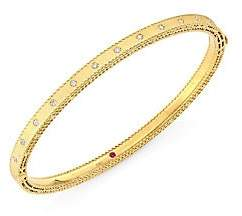 Roberto Coin Women's Princess 18K Gold & Diamond Bangle Bracelet