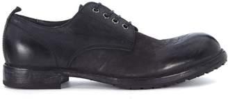 Moma Black Vintage Leather Lace Up Shoe