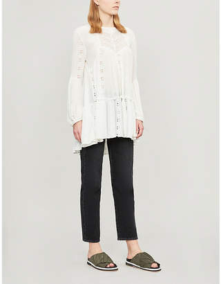 Free People Kiss Kiss embroidered cotton tunic