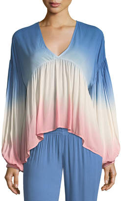 Young Fabulous And Broke Kendra V-Neck Ombre Top