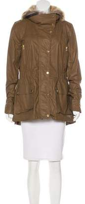 Veronica Beard Fur-Trimmed Short Coat w/ Tags