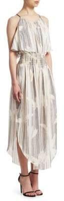 Halston Printed Scoopneck Tank Dress