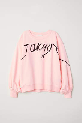 H&M Sweatshirt with Decorations - Pink